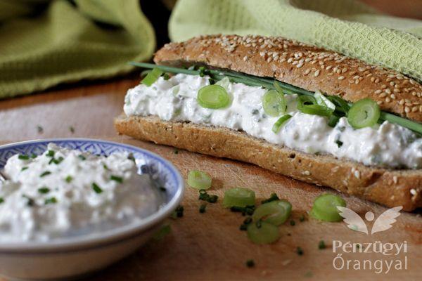 újhagymás-túrós szendvicskrém